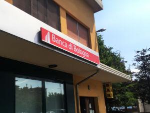 Insegna a cassonetto Banca di Bologna