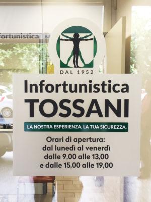 Infortunistica Tossani Vetrofania